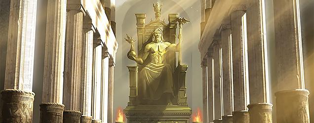 Beeld van Zeus te Olympia