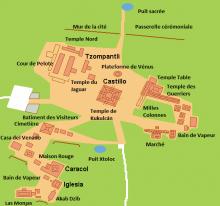Map van Chichén Itzá