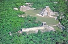 De stad Chichén Itzá